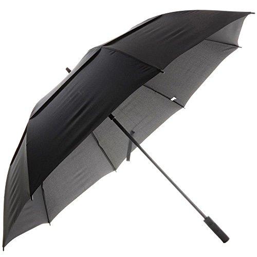 Vented Auto open Golf Umbrella Black