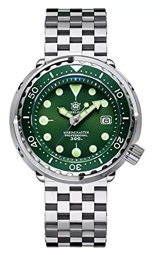 Steeldive SD1975 - Reloj de buceo, Tuna 2020 ver, NH35, AR Sapphire, Lume, verde, 300 m, BNIB