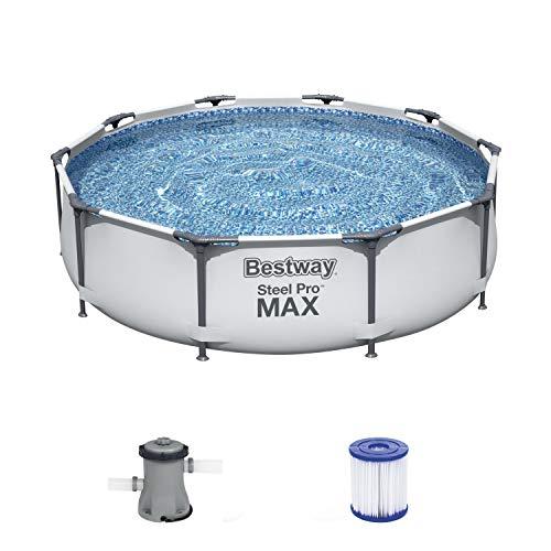 Steel Pro Max Frame Pool-Set, rund, mit Filterpumpe 305 x 76 cm