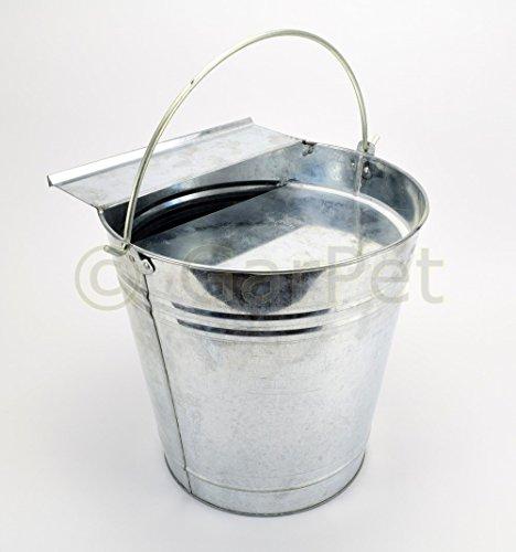 Tränkeeimer Hühner Geflügel Tränke Trinkeimer Eimertränke 12 L Metall verzinkt - 2