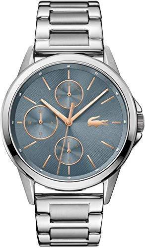 Lacoste Reloj Analógico para Mujer de Cuarzo con Correa en Acero Inoxidable 02001112