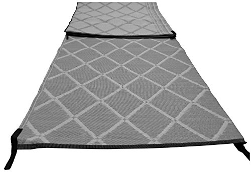 Crusader Paradise Groundsheet Awning Carpet 2.5m X 6m Padded Strong Woven - Grey