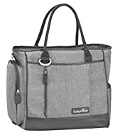 Features a lot of accessories: Insulated bag, changing mat, transparent pocket, soother pouch Wide opening Very handy and comfy thanks to the shoulder strap Contemporary shape Available in different colour options