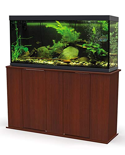 Aquatic Fundamentals AMZ-36551-68, 55 Gallon Aquarium Stand with Double Door Storage, Serene Cherry Finish