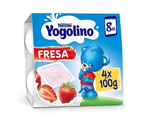 Nestlé Yogolino Fresa a Partir de 8 Meses, 4 x 100g