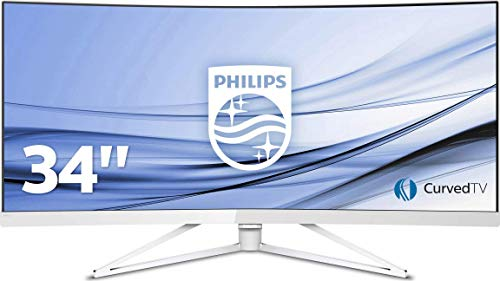 Philips 349X7FJEW/00 86 cm (34 Zoll) Monitor (2 x HDMI, USB-Hub 3.0, 4ms Reaktionszeit, 3440 x 1440, Displayport, curved) weiß