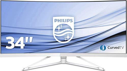 Philips 349X7FJEW/00 Monitor, 86 cm (34 inch), 2 x HDMI, USB-hub 3.0, 4 ms reactietijd, 3440 x 1440, Displayport, curved, wit