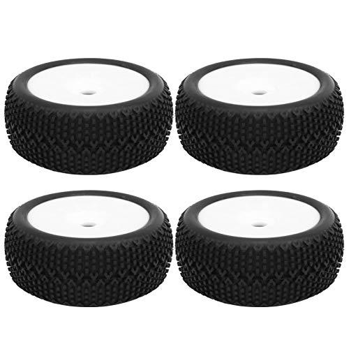 EVTSCAN 4pcs 112 mm Neumáticos de Goma 17 mm Buje Hexagonal Llanta Llantas Antideslizantes Accesorio para 1/8 Modelo de Coche RC