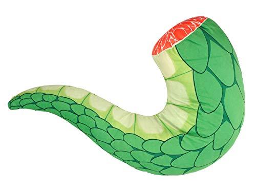 CoolChange Miss Kobayashi?s Dragon Maid staart van Draken Tooro, kussen van pluche, groen