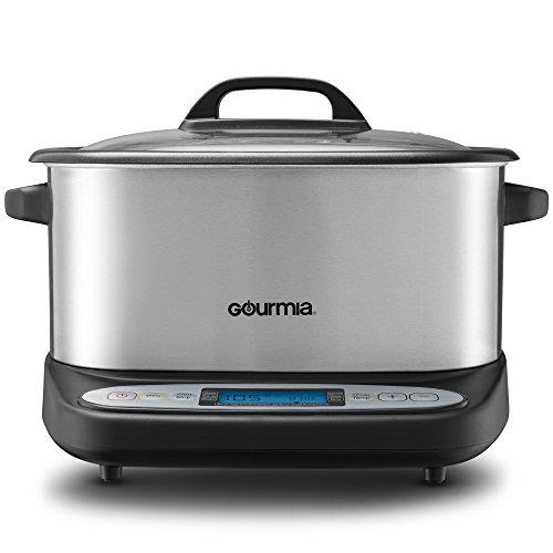 Gourmia GMC680 11 in 1 Multi Cooker + Sous Vide - LCD Pedestal Display - Multiple Cooking Options - Bonus Accessories - Free Recipe Book - 6.5 Qt - 1500W - Stainless Steel