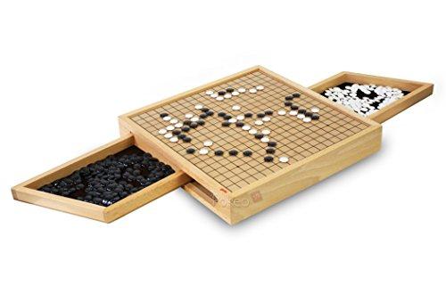 Goki 56916 - Go Brettspiel mit Ausziehfächern