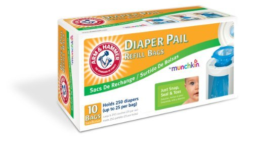 Munchkin Arm & Hammer Luier Pail Refill Bags, 10-Count Maat: 10 Count