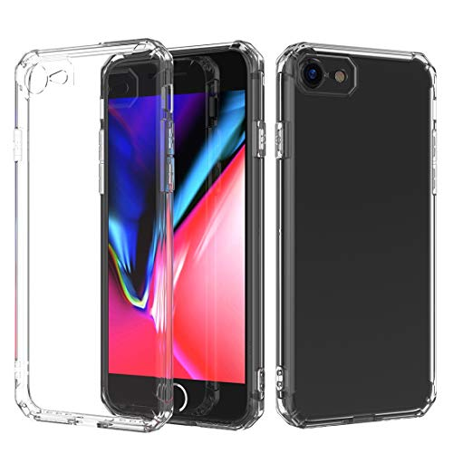 DongYuTongXi Avión de Choque Octagonal Airbag Sound Conversion Hole Design TPU Case para iPhone 8 & 7 (Color : Transparent)