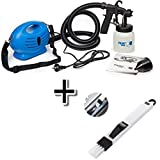 SALUNA 650W Plastic Electronic Paint Zoom Sprayer Machine with Multiple Accessories and Cleaning