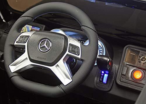RC Auto kaufen Kinderauto Bild 4: moleo Mercedes G65 AMG Kinder Auto Elektroauto Kinderauto Kinderfahrzeug Elektrofahrzeug mit LED-Beleuchtung, verschiedenen Sound- und Lichteffekten 2.4 GHz, Antrieb: 2X 45W Motor, (Black)*