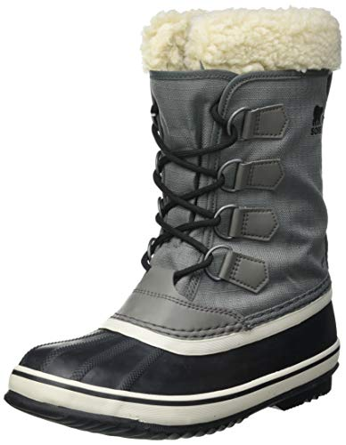 Sorel Women's Winter Carnival Boot - Rain and Snow - Waterproof - Black, Quarry - Size 8