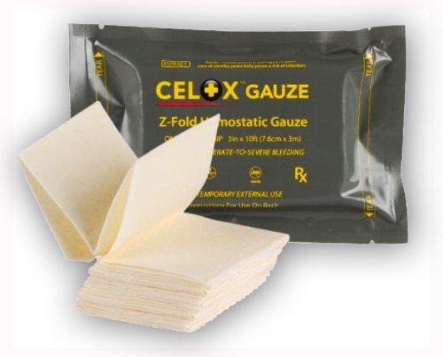 CeloxTM Z-Fold Gauze, 10 Ft Expiration 04/2020 by CELOX