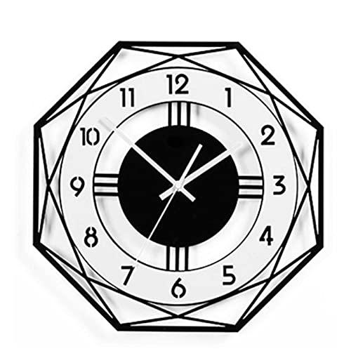 Silencioso Que No Hace Tictac Funciona con Pilas Reloj Grande Pared,Personalidad Creativa Decoración De Arte Moderno Reloj De Pared Cocina,Reloj Pared Silencioso