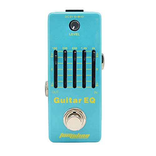 Tom'sline Guitar EQ Analog 5-Band Equalizer Electric Guitar Effect Pedal Mini Single Effect with True Bypass (AEG-5)…