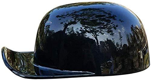 HYRGLIZI Medio Casco de Motocicleta Retro para Hombres y Mujeres, Gorra de béisbol Ligera, Modelado, para Adultos, Casco Abierto, Bicicleta, Crucero, helicóptero, ciclomotor, Scooter, Motocicleta, ca