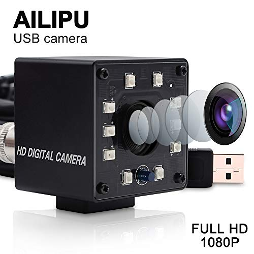 2MP HD 1080P USB Camera with CMOS OV2710 Webcam High Frame 100FPS Night Vision Webcam Monitor Infrared Web Camera with IR Cut and 10PCS Led Board Industrial Camera,Webcamera with 3.6mm Lens for Linux