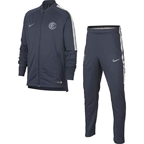 Nike Inter Y NK Dry SQD TRK Suit K – Tuta Unisex per Bambini, Multicolore (Thunder Blue/Thunder Blue/VAST Grey)