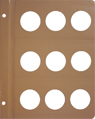 Dansco Blank Album Page for 41mm Coins