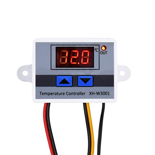 KeeYees XH-W3001 Praktische Temperaturregler mit Digital LCD Display 12V Hohe Präzision Thermische Regler 10A Thermoelement Thermostat