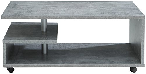 FORTE Baily Couchtisch, Holz, beton, 105 x 60 x 45.60 cm