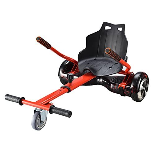 GEQWE Hoverboard, Kart Hover Ajustable, Scooter Eléctrico Inteligente Go Karting Kart para Adultos, Niños, Accesorio De Soporte Compatible con 6.5-10Pulgadas Amortiguador
