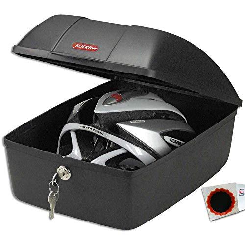KlickFix Bike Box GTA 25x35x18cm + Kuppl.-Stück Schwarz + SCHLAUCHFLICKEN