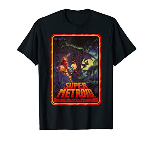Official Nintendo Super Metroid Kanji Poster Style Graphic T-Shirt, Adults or Youth