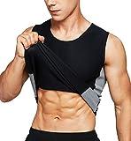 Neoprene Sauna Vest Waist Training Hot Sweat Vest for Men Body Shaper Tank Top Workout Compression Shirt (XXX-Large)