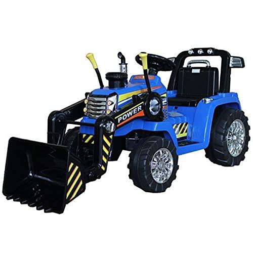 Tractor eléctrico Masters con cucharón, Azul, tracción Trasera, batería de 12 V,...