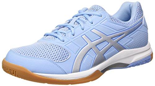Asics Gel-Rocket 8, Zapatillas de Voleibol Mujer, Azul (Airy Blue/Silver/White 3993), 42 EU