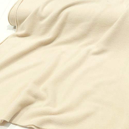 TOLKO Polar Fleece Stoff zum Nähen | beidseitig gerauht - flauschig weich | warmer Winterstoff mit Antipilling | für Jacke Mütze Schal Pullover Decke | 150cm breit Meterware (Champagner)