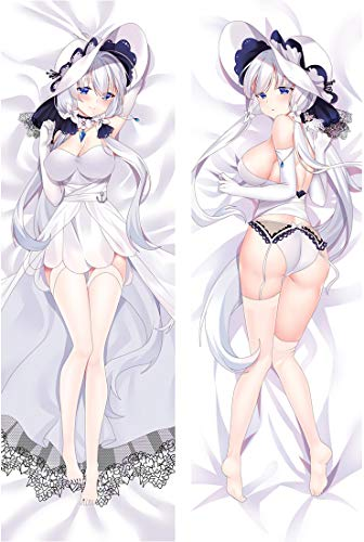 RYWGET HMS Illustrious - Azur Lane Cute Darling Hugs Covered Zipper Body Pillow Case, Soft Cover Double Sided Throw Peach Skin Tricot Pillowcases 160 x 50cm(62.9in x 19.54in)