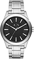 Armani Exchange Nico Men's Black Dial Stainless Steel Analog Watch - AX2320