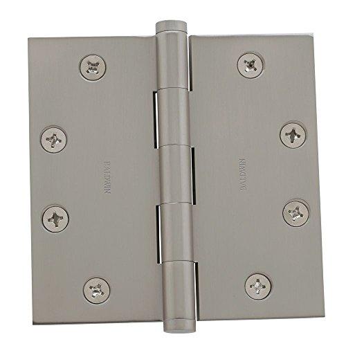 baldwin home furniture bearings Baldwin 1045150I Square Mortise Hinge, Satin Nickel