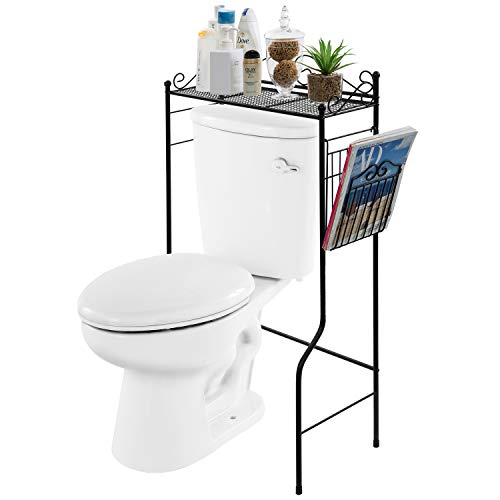 Tangkula Bathroom Floor Storage Cabinet, Wooden Free Standing Storage Cabinet with Drawer & Single Shutter Door, w/Adjustable Shelf & Anti-toppling Fittings for Home Office, 13