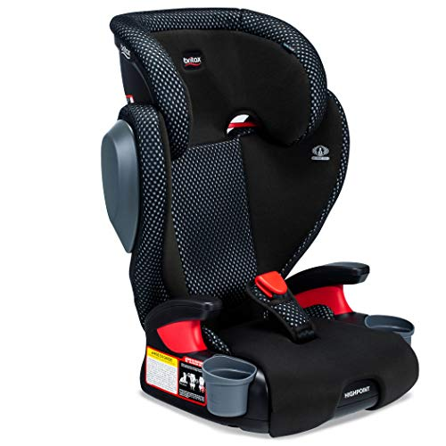 Britax Highpoint 2-Stage Belt-Positioning Booster Cool Flow Ventilating Fabric Car Seat - Highback and Backless | 3 Layer Impact Protection - 40 to 120 Pounds, Gray
