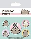 Pusheen Pack de chapas Says HI, See Description, Multicolor, 10 x 12.5cm