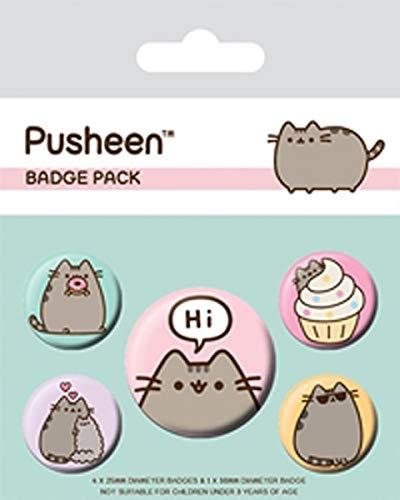 Pyramid International Pusheen Says Hi Badge Pack, Multi-Color, 10 x 12.5cm