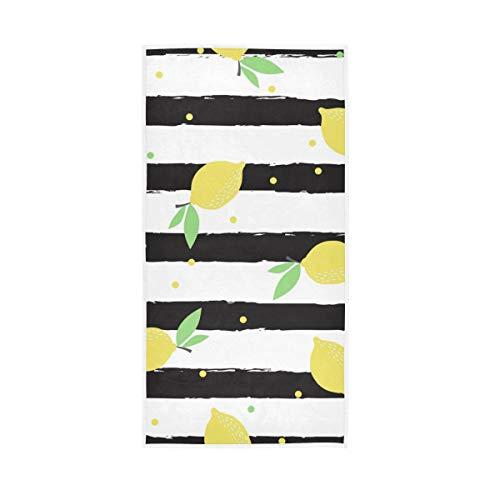 UMIRIKO Toalla de mano a rayas de limón de secado rápido, toalla de cara altamente absorbente para baño 30 x 15 pulgadas 2020274