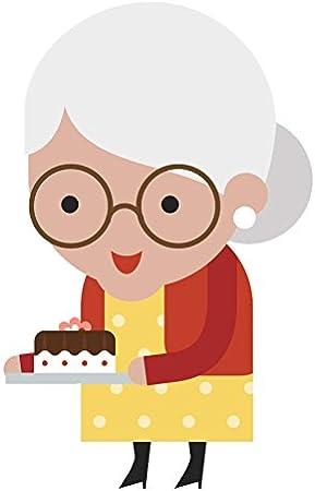 Amazon Com Adorable Old Lady Cartoon Emoji Vinyl Decal Sticker 4 Tall 2 Automotive