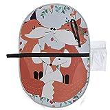 Fox niedlichen Cartoon Wald Tier Windel Travel Mat Babys Wickelauflage 27 x 10 Zoll wasserdicht faltbare Matte Baby tragbare Wickelstation Windel Wickelauflage tragbar