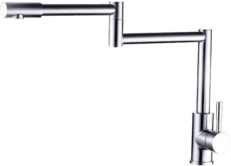 360 ° drehbaren Wasserhahn Retro Wasserhahn Küchenspüle Wasserhahn Edelstahl Doppel Loch Heie und kalte Waschbecken Mischer Hoch Mischbatterie
