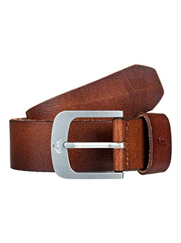 Quiksilver The Everydaily-Cinturón De Cuero, Hombre, Chocolate, M-34