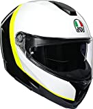 Casco SportModular AGV E05 Multi MPLK Ray Carbon/White/Yellow Fluo L