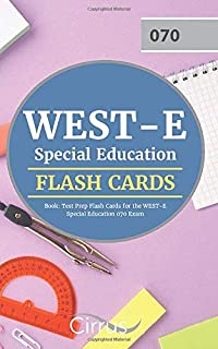 WEST-E Special Education Flash Cards Book: Test Prep Flash Cards for the WEST-E Special Education 070 Exam